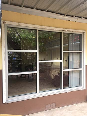 old aluminum windows, before we called Mobile Screen and Glass