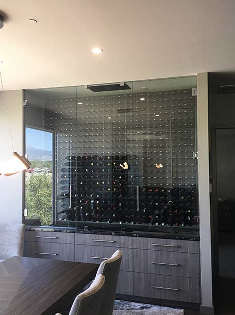 Custom in-home residential glass applications